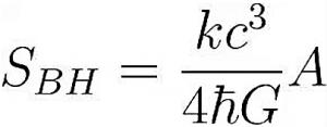 Formula de la radiación de Hawking