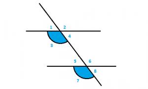 Angulos correspondientes - ejemplo 1