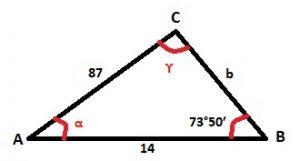 Teorema del coseno - ejemplo