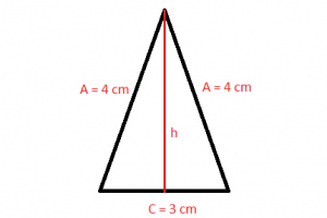 Isosceles triangle - example 1