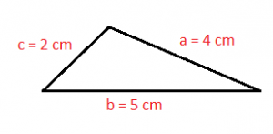 Scalene triangle - example 1