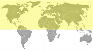 Hemisferio norte | Qué es, características, estaciones, constelaciones, países
