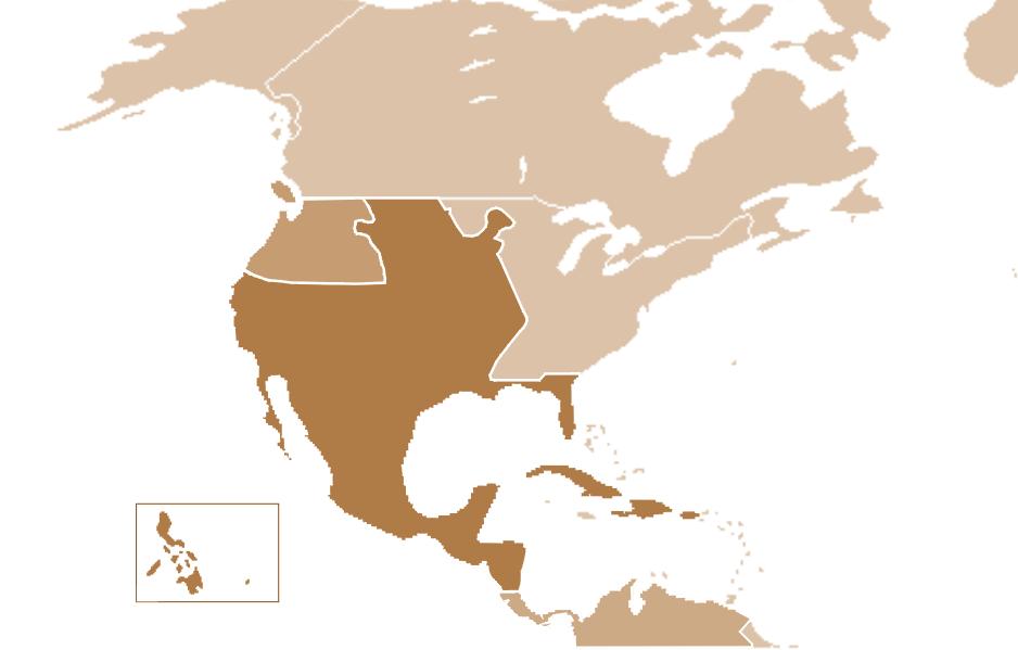 Mapa del virreinato de Nueva España